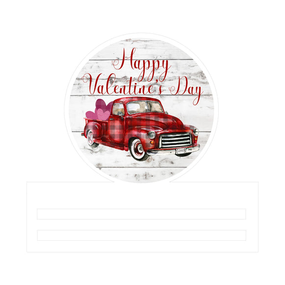 Valentine's Truck Printed Wreath Rail