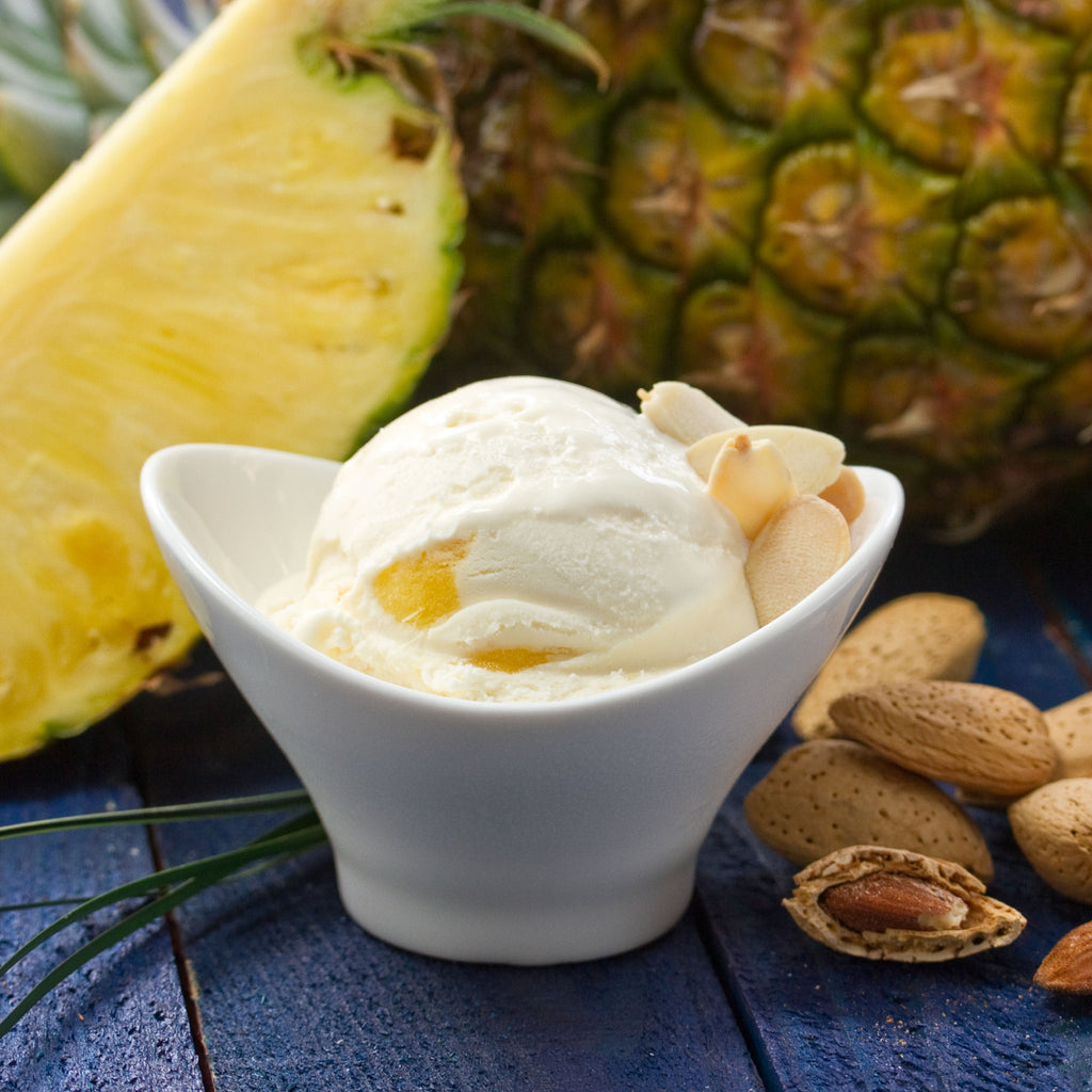 Merry Moo Ice Cream : Toasted Almonds & Pineapple