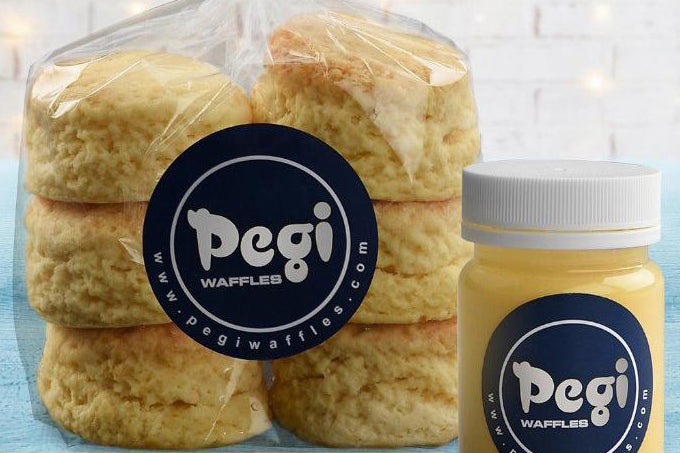 Pegi Scones with Clotted Cream