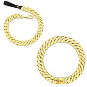 Gold Cuban Dog Chain Collar & Leash Set - Nekua - 1