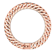 Rose Gold Cuban Dog Chain Collar & Leash