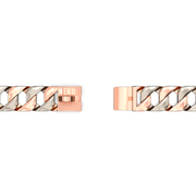 Rose Gold & Silver Two Tone Cuban Dog Chain Collar - Nekua - 2