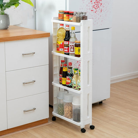 Kitchen Storage Rack w/ 2/3/4  Removable shelf