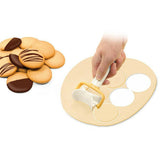 Rolling Cookie Dough Cutters Round and square