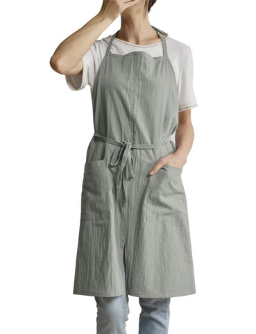 Unisex cotton linen apron