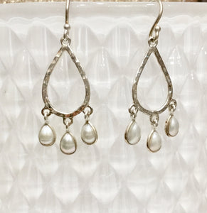 Pearl chandelier  earings