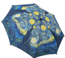 Load image into Gallery viewer, Galeria folding umbrellas starry night Van Gough