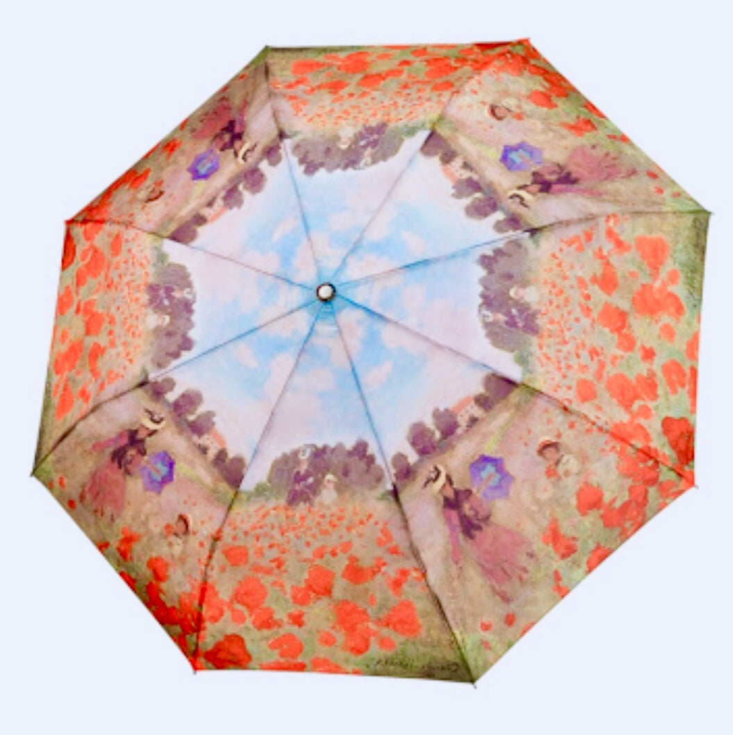 Galeria folding umbrellas  Monet poppies