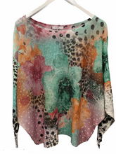 Load image into Gallery viewer, Water Lilly leopard light weight knit made in Italy