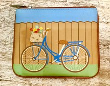 Load image into Gallery viewer, Leather coin purse Biking