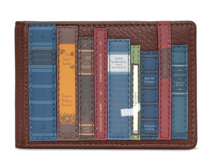 Leather travel pass Bookworm Brown