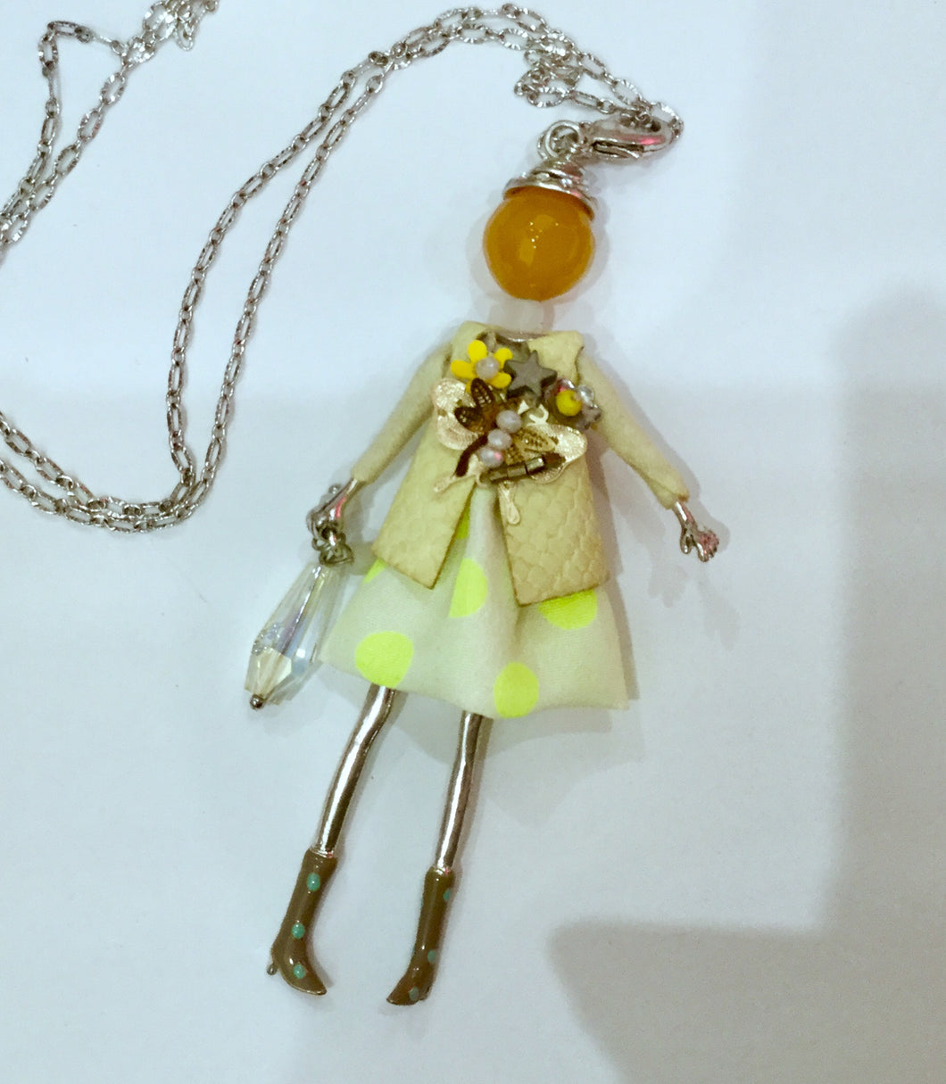 French doll necklace limoncello sparkle