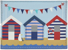 Load image into Gallery viewer, Leather coin purse beach huts