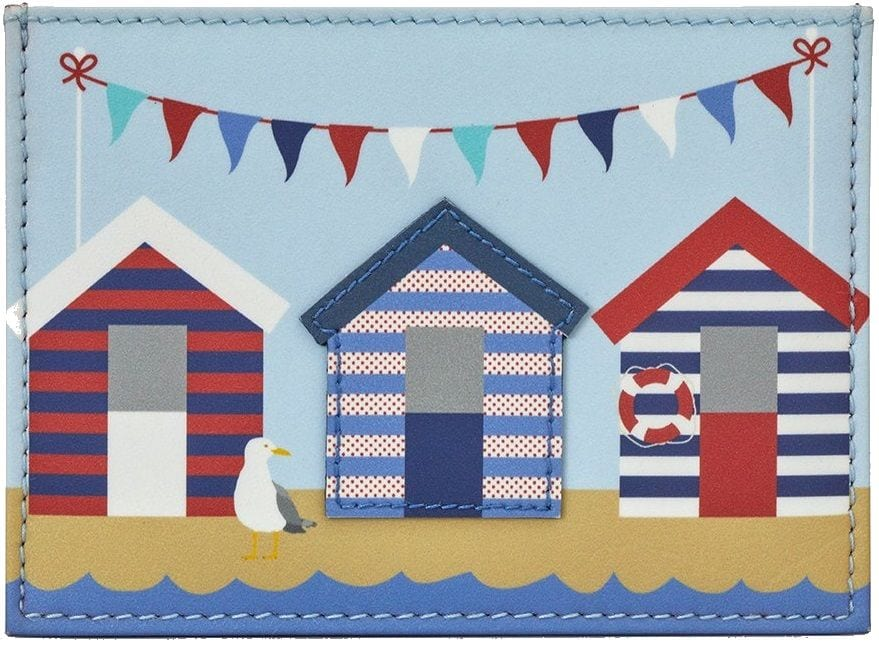 Leather coin purse beach huts