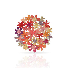 Load image into Gallery viewer, Orange bouquet drop brooch