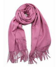 Load image into Gallery viewer, Cashmere luxurious scarf dusty pink