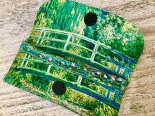 Load image into Gallery viewer, Velour glasses case Japanese bridge Monet