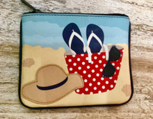 Load image into Gallery viewer, Leather coin purse Beach day