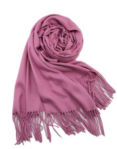 Cashmere luxurious scarf dusty pink