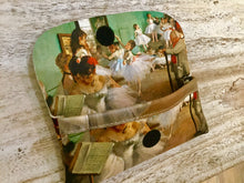 Load image into Gallery viewer, Velour glasses case Dance class Degas