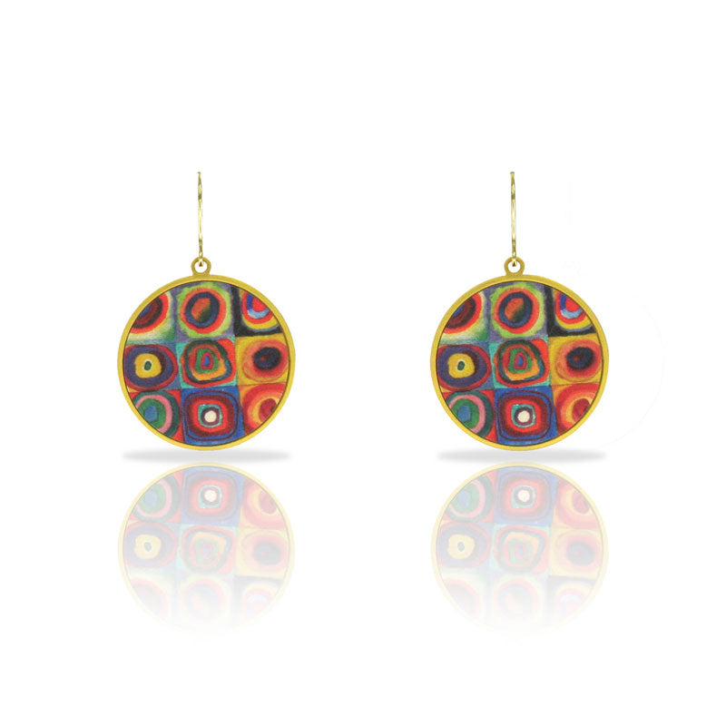 Kandinsky inspired  drop earrings