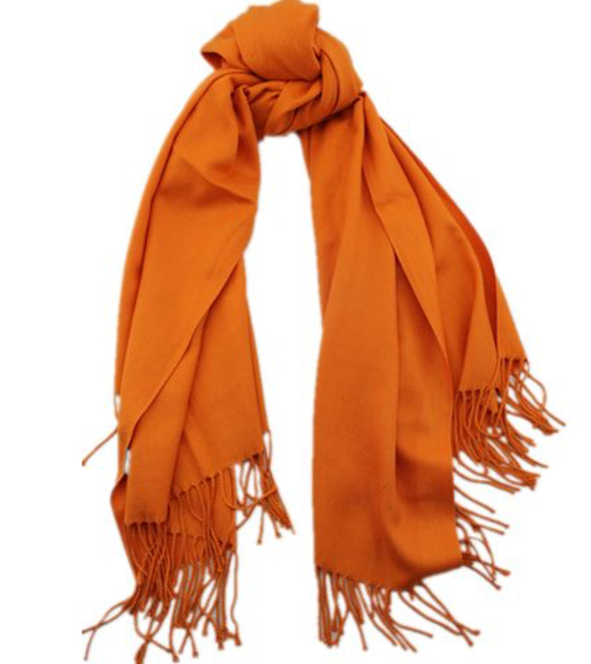 Cashmere luxurious scarf orange