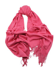 Load image into Gallery viewer, Cashmere luxurious scarf fushia