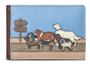 Dog walk leather travel pass