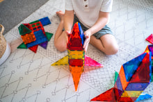 Load image into Gallery viewer, Rocket ship  from Learn and Grow Magnetic Tiles - 64 piece set