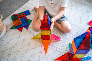 Rocket ship  from Learn and Grow Magnetic Tiles - 64 piece set