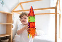 Load image into Gallery viewer, Magnetic tile rocket ship - Learn and Grow Magnetic Tiles - 110 piece set