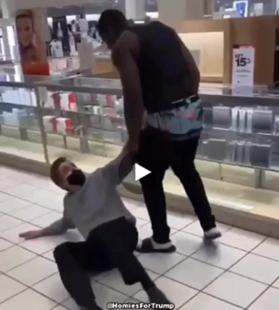 Member Of BLM Attacking Old, White Man In Department Store.