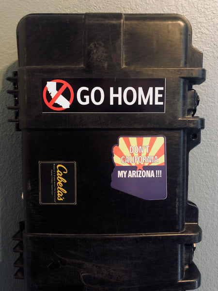 Our Arizona Decals go great on your Firearms case!