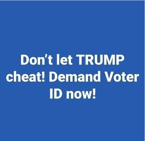 Don't Let TRUMP Cheat!! Demand Voter ID NOW!!