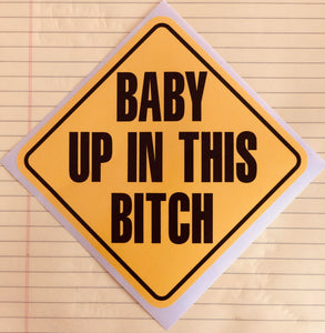 Baby on board decal (with a twist)