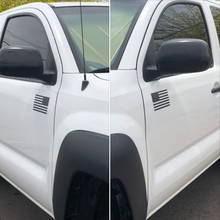 Load image into Gallery viewer, Matte Black American Flag sticker for truck/car door! (LEFT & RIGHT)