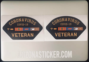 Corona Virus Veteran Decal | Car, Truck, UTV sticker!