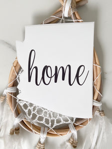 Cute Arizona HOME sticker in white