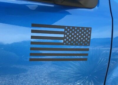 Matte Black American Flag sticker for truck/car door! (RIGHT)