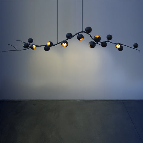GEORGINA CHANDELIER BLACK BERRY