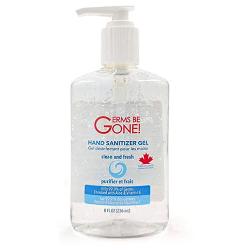 The Germs Be Gone! - Hand Sanitizer 8oz Pump Bottle - Canada Gloves Direct