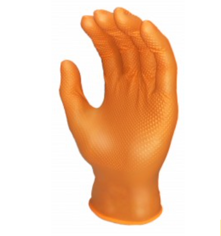 Ronco Orange nitrile glove