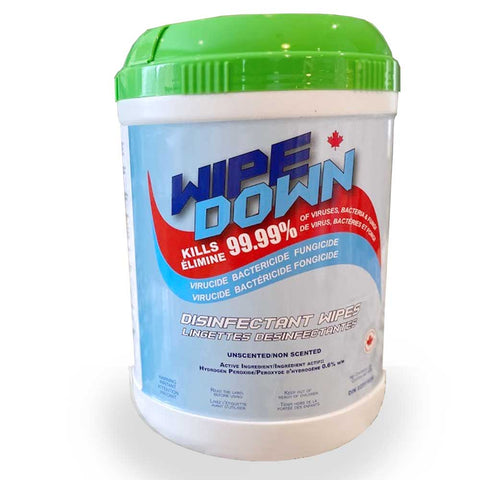 MADE IN CANADA WIPE DOWN Antibacterial Surface Wipes | 250 count - Canada Gloves Direct