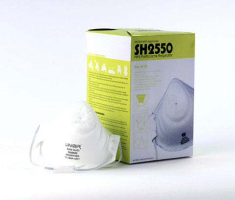 SH2550 SERIES N95 PARTICULATE RESPIRATORS -Box of 20 - Canada Gloves Direct