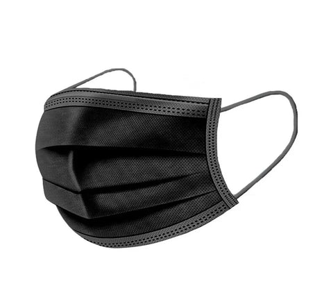 Black Non-Medical Disposable Ear-loop Masks - Canada Gloves Direct