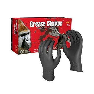 Grease Monkey 5 mil Black Nitrile - Food Safe Gloves - Canada Gloves Direct