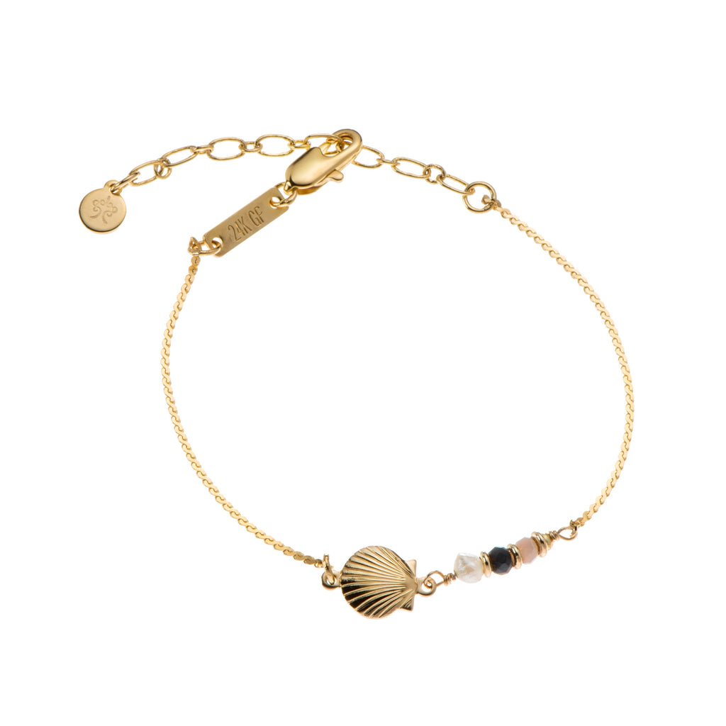 Liya chain Bracelet with S sea shell