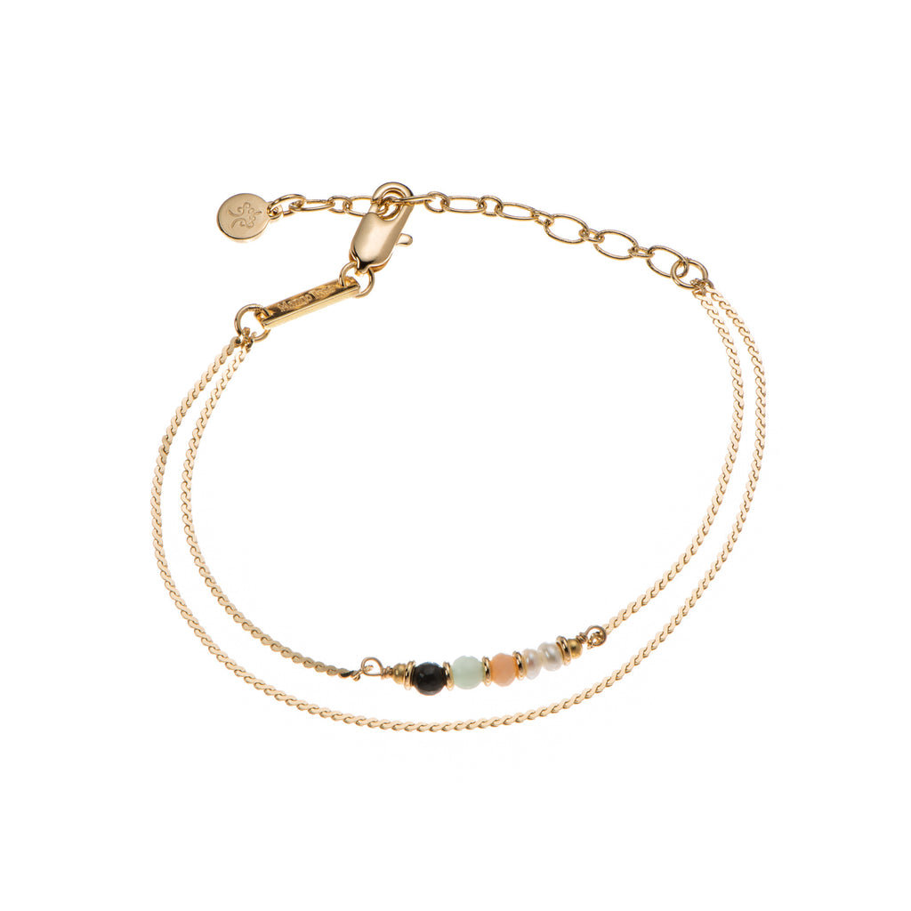 Double Liya Bracelet with 5 Beautiful Gems
