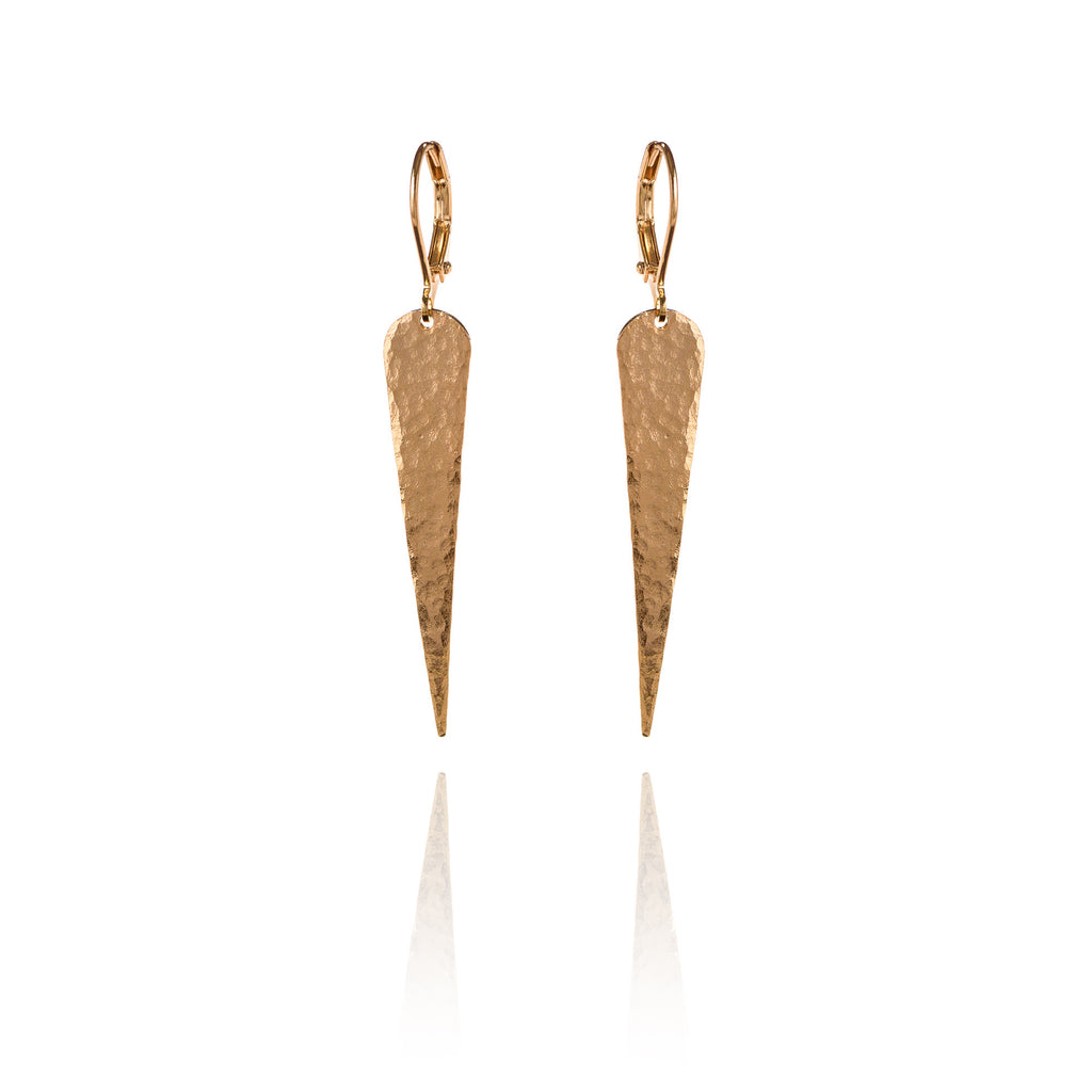 Hammered Spike Earrings