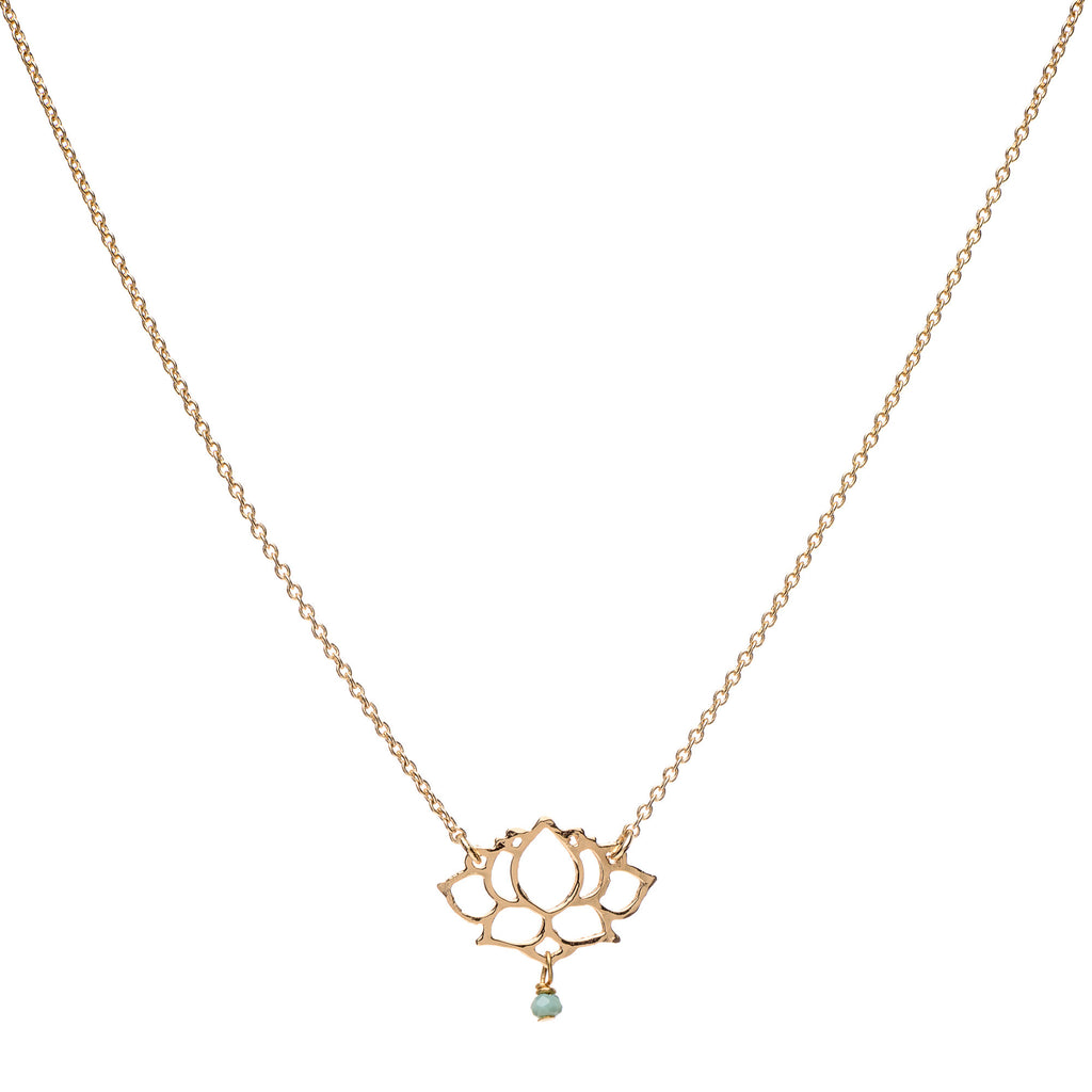 S Lotus Pendant with Romi Chain Necklace